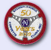 Patch that marked the 50th anniversary of the National Council of Corvette Clubs.