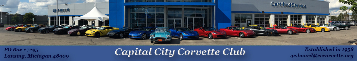 Celebrating 60 years of Corvetting at Shaheen Chevrolet in Lansing, MI. Photo credit to Tom Faupel.