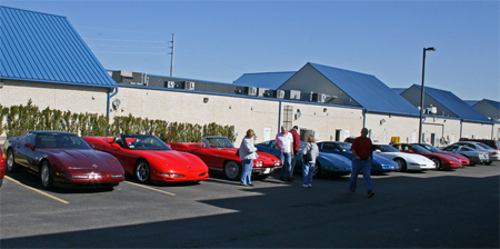 Vettes at a stop along the fall color tour in 2010.