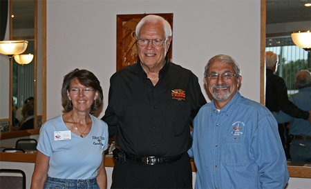 Jim Hoppin, founding member of CCCC, with Sue Keith and Craig Iansiti