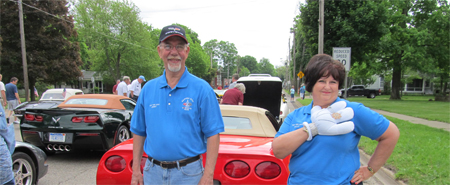 Jerry and Sally at the 2015 Marshall Memorial Day Parade.